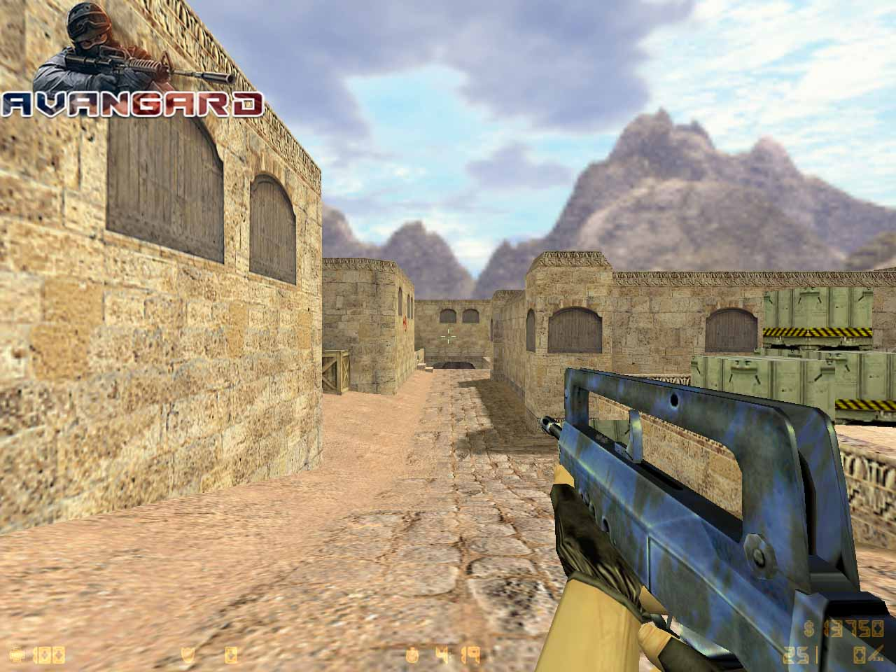 Модель Famas Blue Tiger для CS 1.6